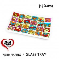 K. HARING - GLASS TRAY -...